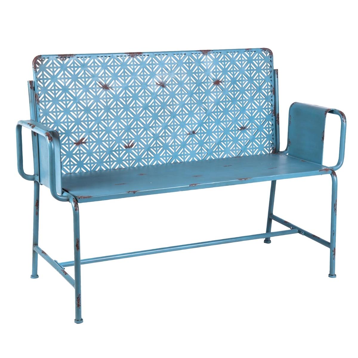 Woodstock Metal Loveseat Accent Furniture Plum Post