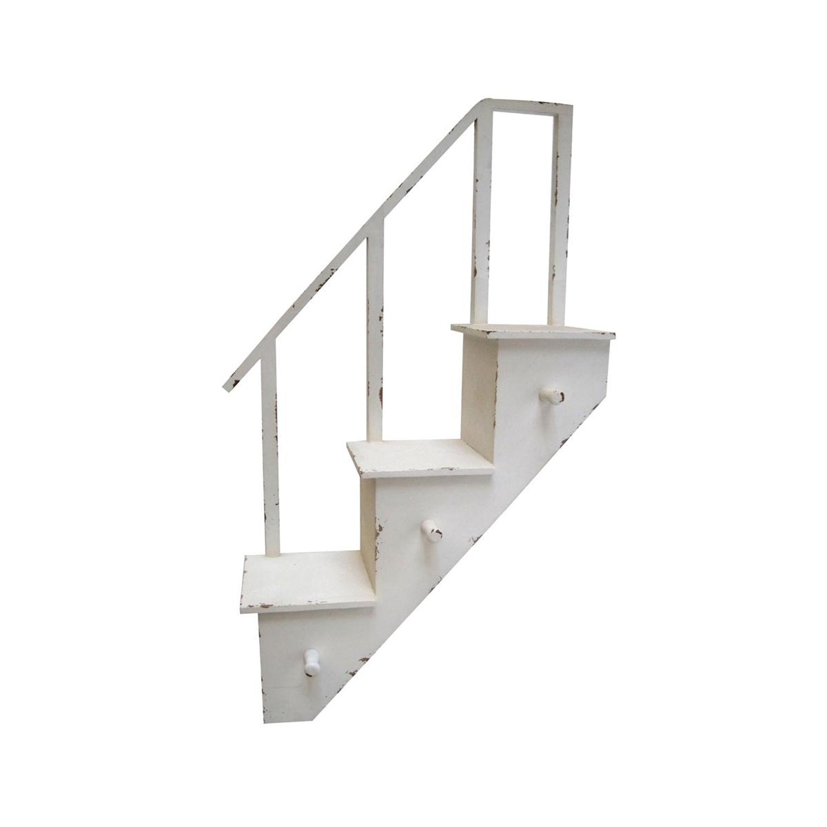 stairway wall hooks shelves plum post. Black Bedroom Furniture Sets. Home Design Ideas
