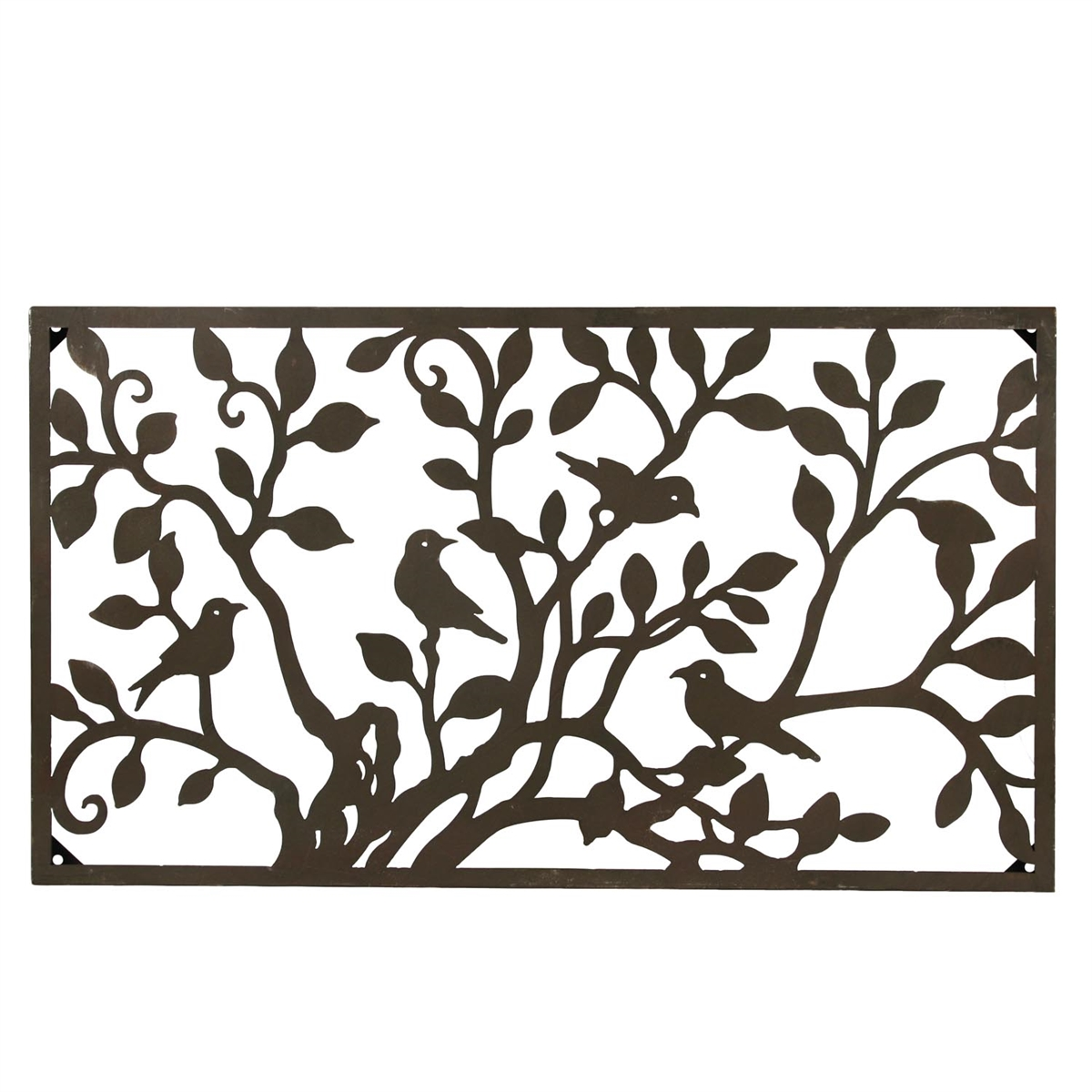Wall Decor Horizontal : Metal birds on a tree horizontal wall art plum post