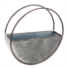 Round Metal Flower Pot, Large Planter | Plum & Post
