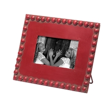 Beaded Picture Frame 4x6, Red Photo Frame | Plum & Post