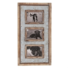 Punch Metal Triple 4x6 Picture Frame | Plum & Post