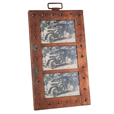 3 Photo Aviator Metal Picture Frame, 4X6 Decorative Frame | Plum & Post