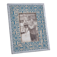 Tile Printed Rounded Frame, 4X6 Decorative Frame | Plum & Post