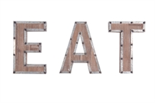 "Ashville ""Eat"" Wall Art Letters 