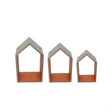 house shelves set of 3 wooden shelves plum post - Decorative Accents